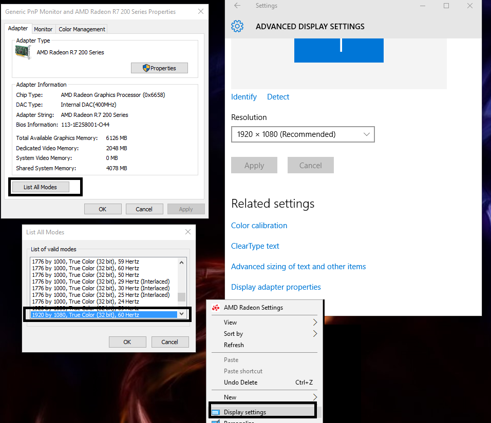 How to get 144hz in the new Amd Radeon Settings? : Amd