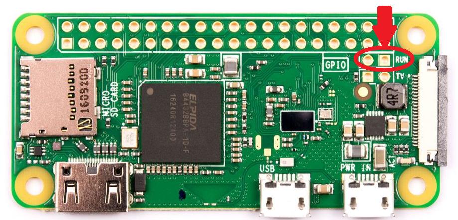 Raspberry Pi 0 RUN GPIO