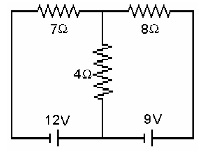 basic resister circuit with two batteries
