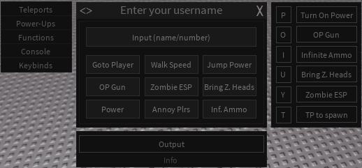 Roblox Script Pastebin Project Lazarus Gui Op Gun Infinite Ammo Bring Zombie Heads Enable Power Etc
