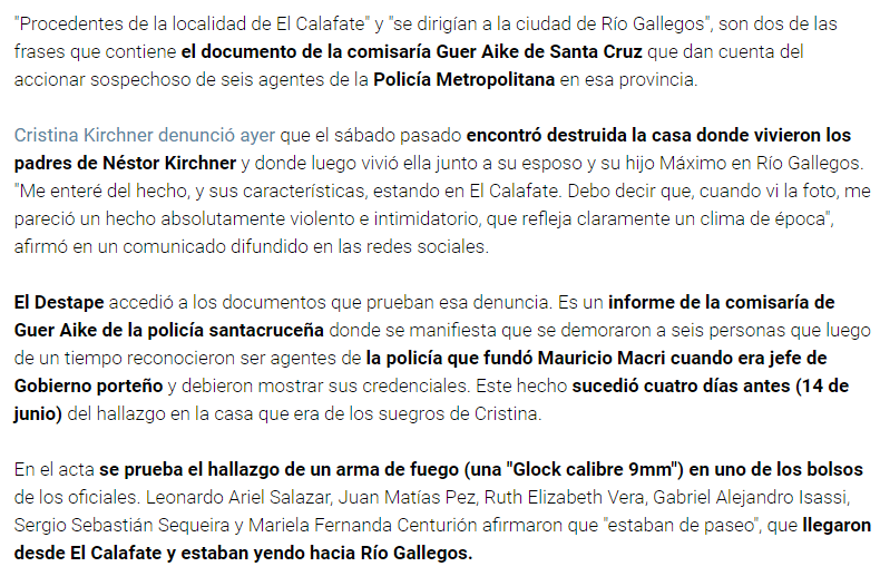 Era cierto: La Metropolitana actuó ilegalmente contra CFK