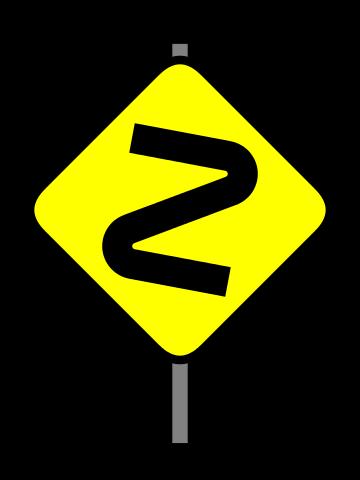 危険な曲がり角