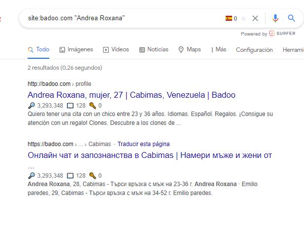 """Resultados de búsqueda del comando site: con """""""""""