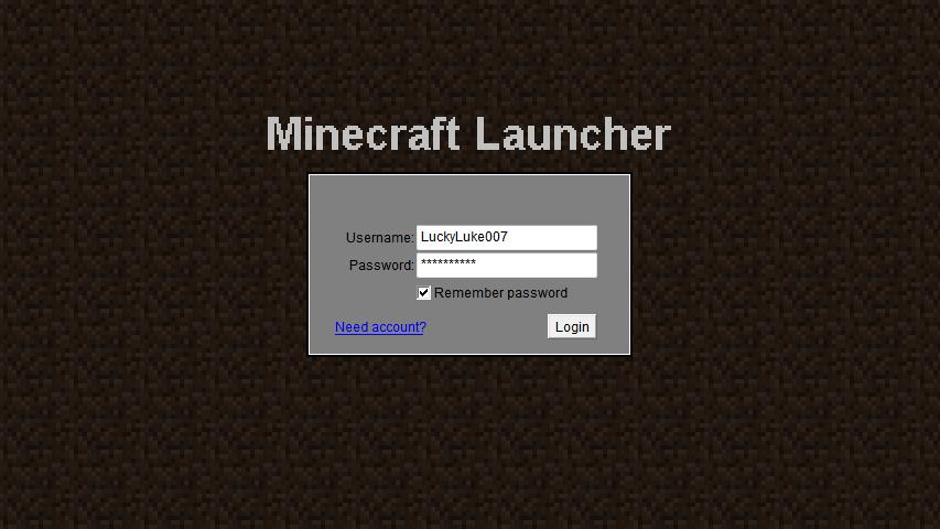 minecraft login online