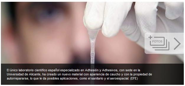 Científicos de Alicante descubren el primer material capaz de autorrepararse F0743db5085143e9cc6f95aefdbf6cb3