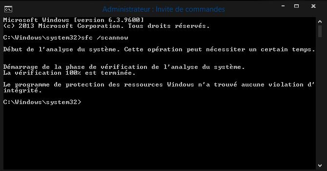 Windows 8 votre pc a rencontre un probleme