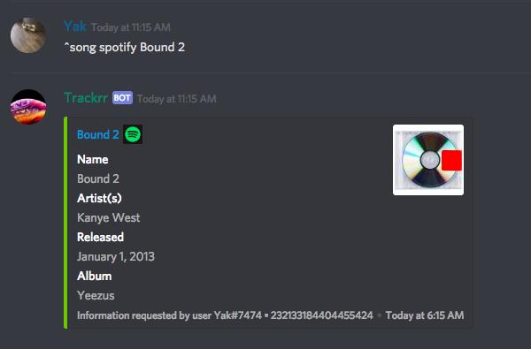 Trackrr Discord Bots