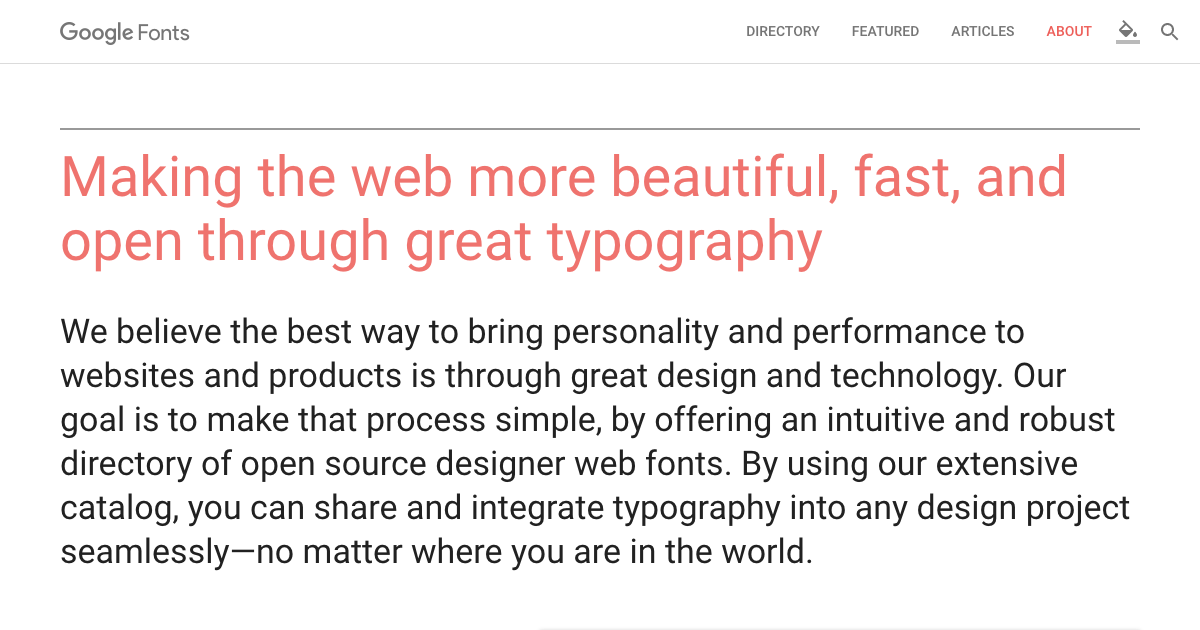 Google Fonts トップ画像
