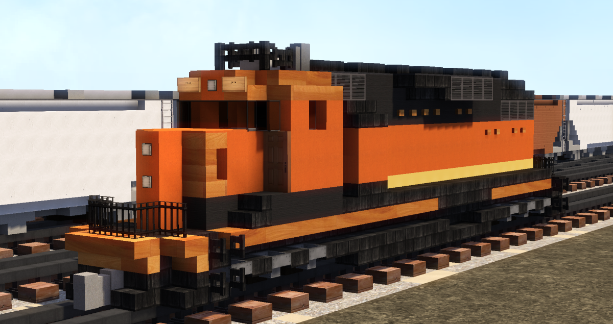 Light At Last - Bnsf Train - Chunk Challenge Minecraft Map