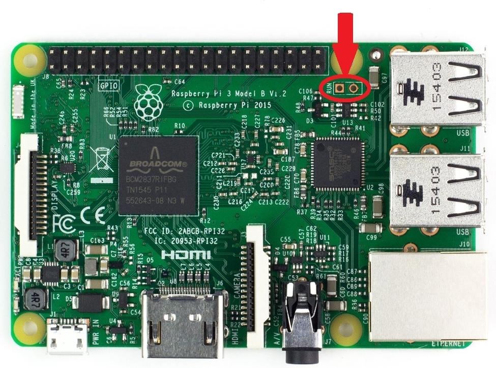 Raspberry Pi 3 RUN GPIO
