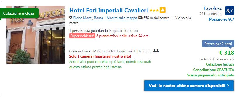 Hotel Roma centro a capodanno