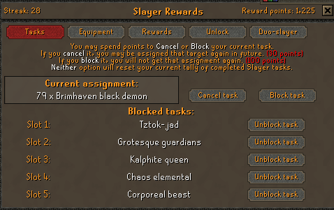 What's On Your Slayer Block List? (Post-Konar) - General