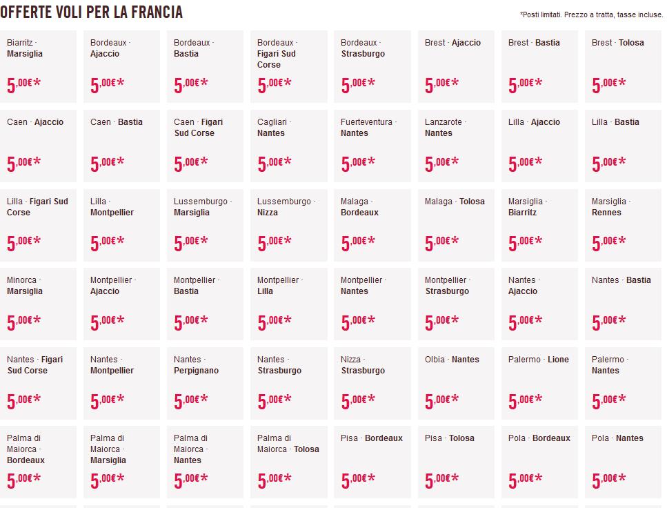 Voli Volotea in Offerta per la Francia 5€