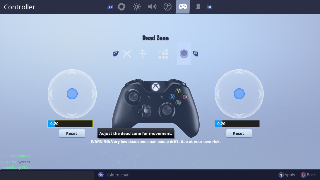 Fortnite Added Deadzone Adjustment  Thoughts?