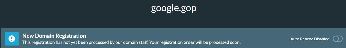 google gop pending