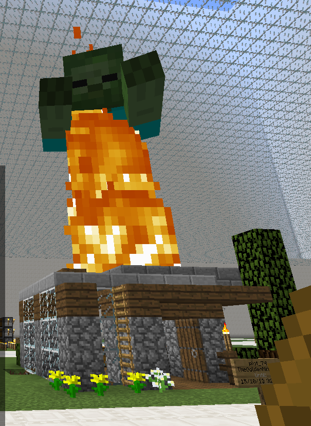 GIANT ZOMBIE TERRORIZES PRISON SERVER!!!! BE WARNED OF THE WIZARD