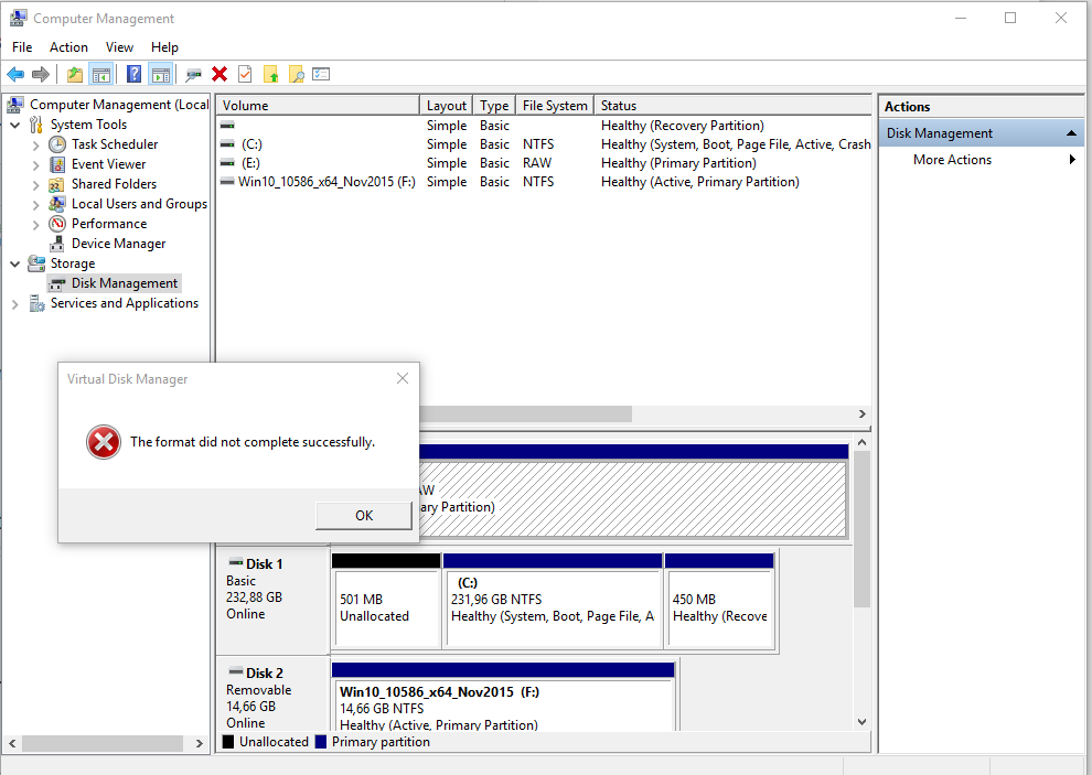 Can T Format The 2nd Internal Hard Disk Drive Solved