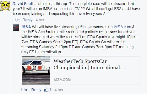 Rolex Daytona 24 2016 Live Timing