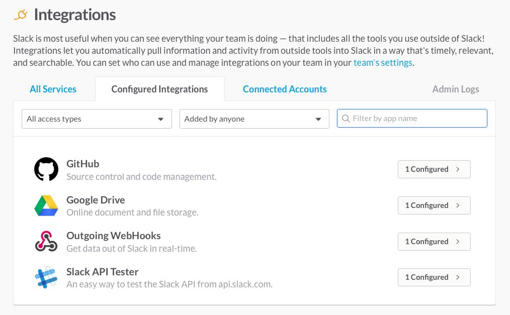 integrations management