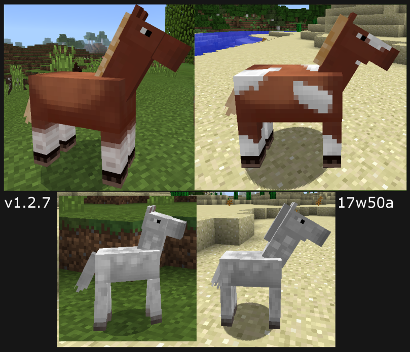 Likely Final Horse Model Is Out On Bedrock With Some More Fixes To