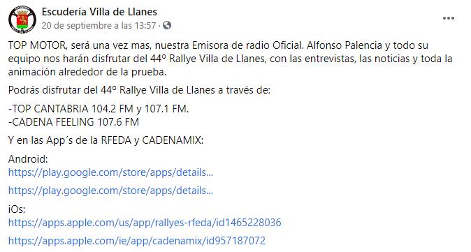 SCER + CERA: 44º Rallye Villa de Llanes - Trofeo Jesús Manuel Peña Ibánez [24-25 Septiembre] Fafcdbf551e06e9e8c16c62133b6ac67
