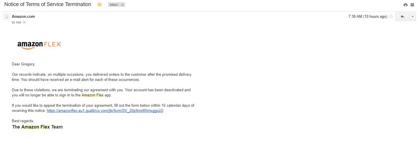 5a3b989c5b50 Beware  wrongful terminations   AmazonFlexDrivers