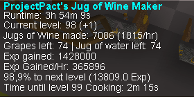 Project's Jug of Wine Maker - Fishing & Cooking - OSBot