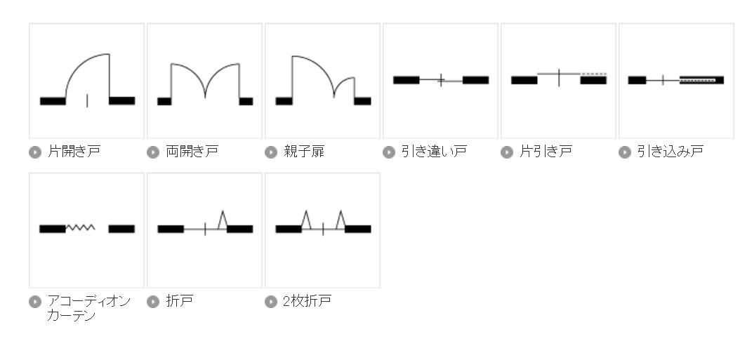 「平面図 扉の表現」の画像検索結果