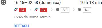 Roma Salisburgo in treno