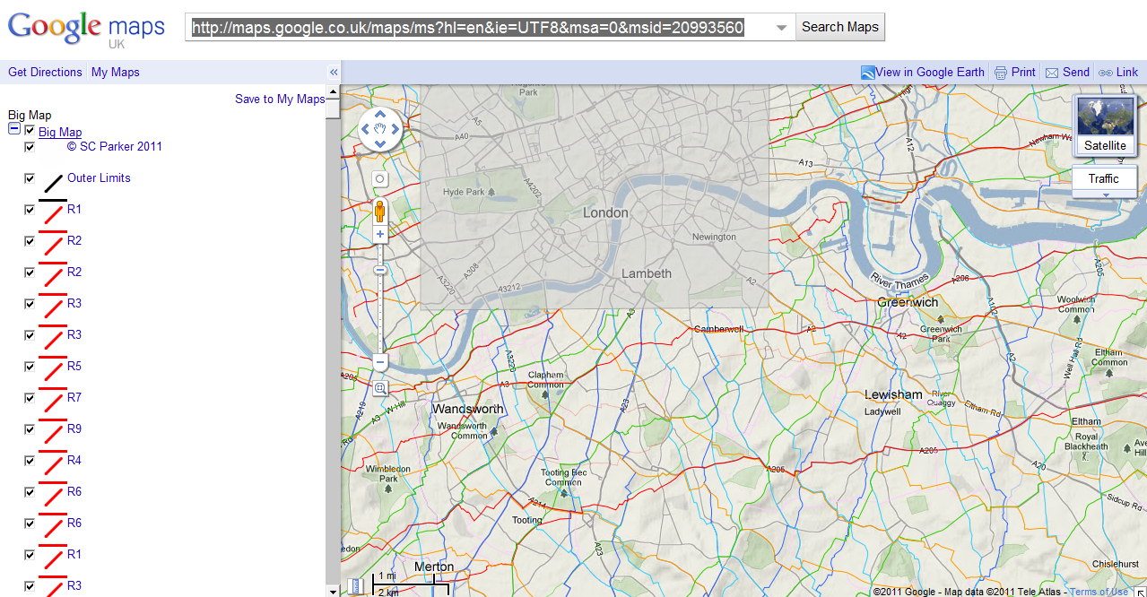 link big map google maps