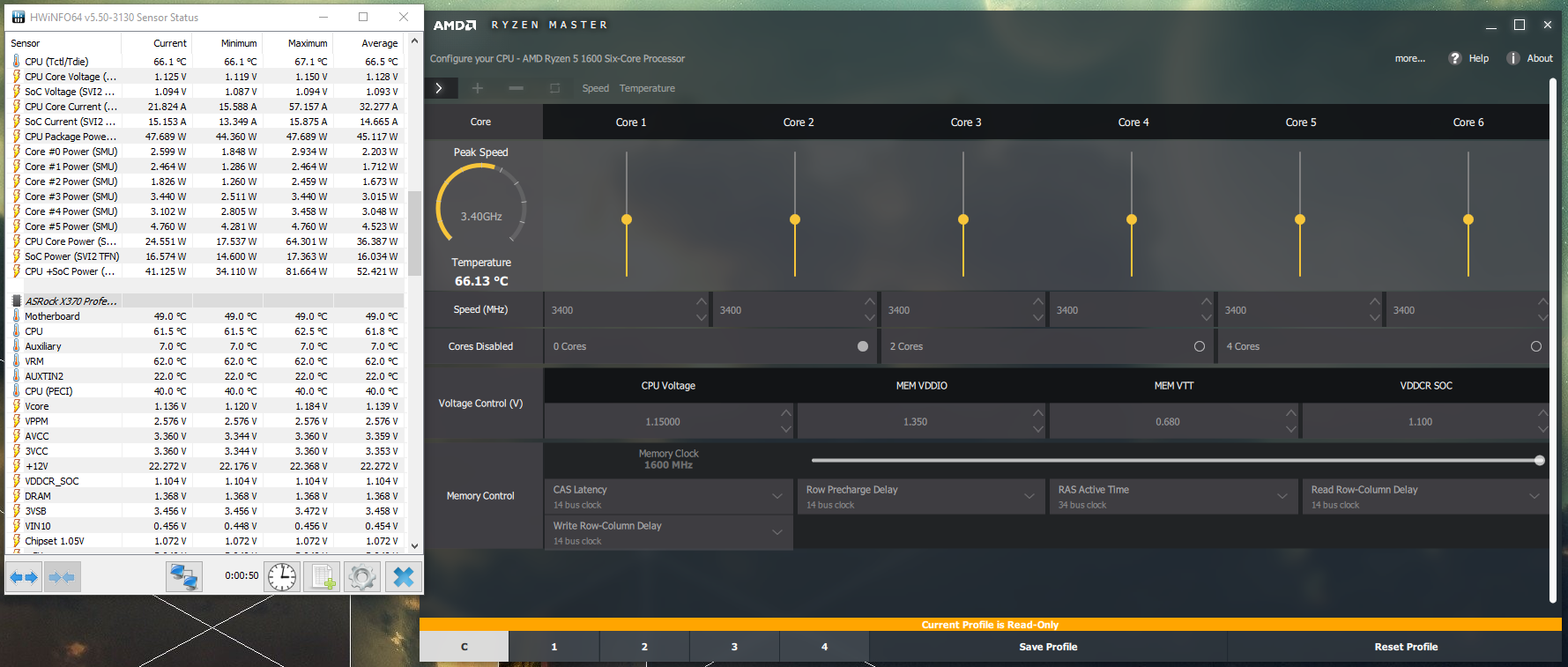 AMD Ryzen 5 1600 50 degrees at idle | Overclockers UK Forums