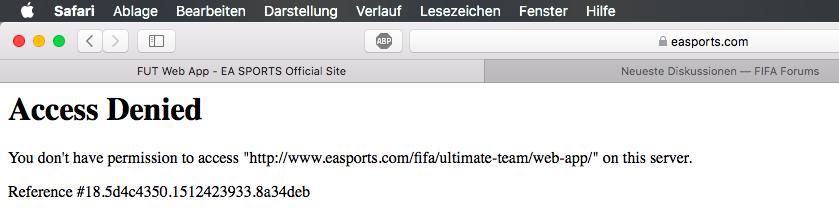Access Denied Web App Fifa Forums