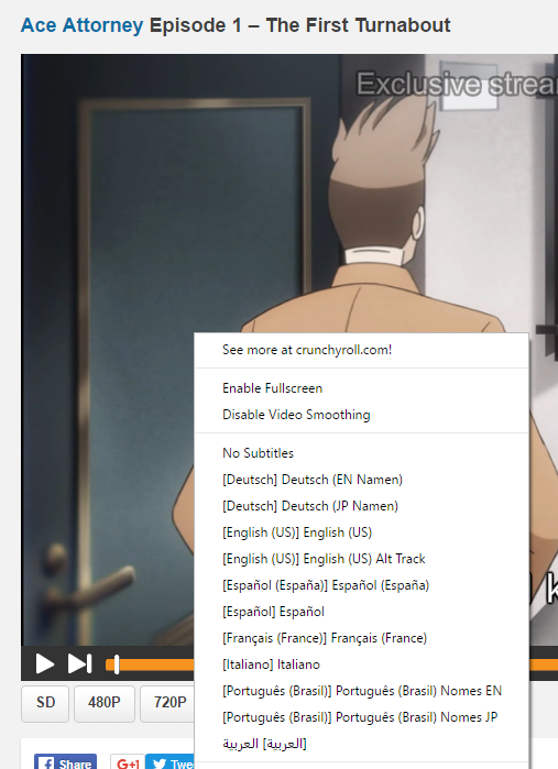 Crunchyroll - Forum - Switching subtitles for Ace Attorney?