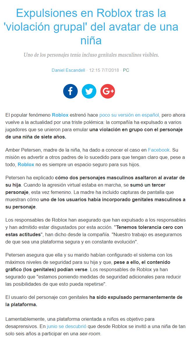 Baneos En El Juego Roblox Tras Cometer Una Violacion Grupal A Una
