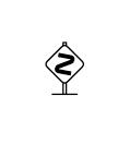 危険な曲がり角の例