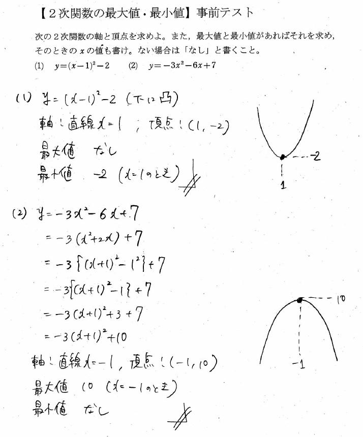 次 関数 最大 値 2 2次関数|2次関数の最大値や最小値について