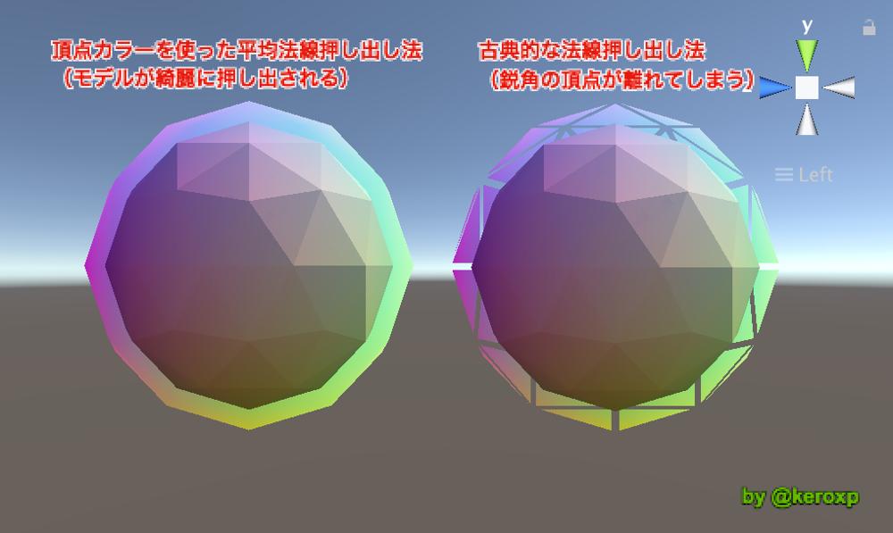 【Unity】頂点カラーを使って綺麗にアウトラインを描画する - keroxp