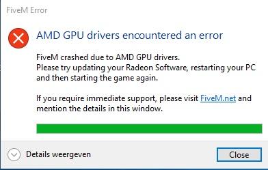 AMD GPU drivers encountered an error - Technical Support - FiveM